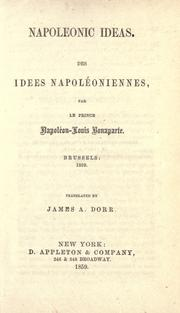 Cover of: Napoleonic ideas