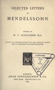 Cover of: Selected letters of Mendelssohn
