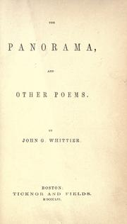 Cover of: The panorama, and other poems