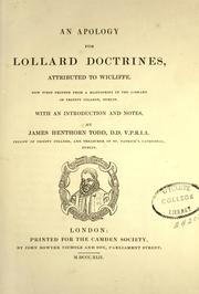 Cover of: An  apology for Lollard doctrines
