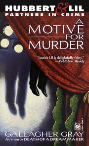 Cover of: Motive for Murder | Gallagher Gray