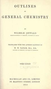 Cover of: Outlines of general chemistry