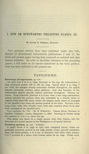 Cover of: New or noteworthy Philippine plants