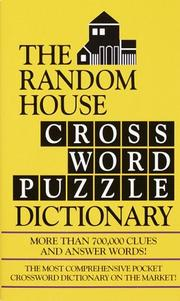 Cover of: The Random House Crossword Puzzle Dictionary | Stephen Elliott