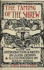 Cover of: The taming of the shrew | William Shakespeare