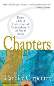 Cover of: Chapters  | Candice Carpenter