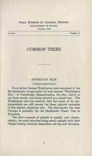 Cover of: Common trees