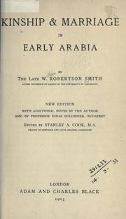 Cover of: Kinship & Marriage in Early Arabia