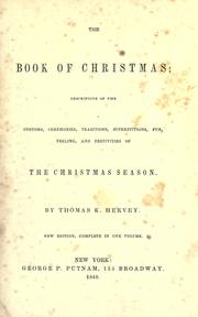 Cover of: The book of Christmas
