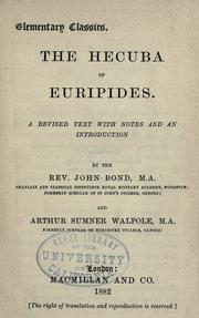 Cover of: The  Hecuba of Euripides