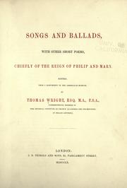 Cover of: Songs and ballads