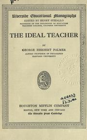 Cover of: The ideal teacher