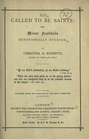 Cover of: Called to be saints