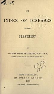 Cover of: An index of diseases and their treatment