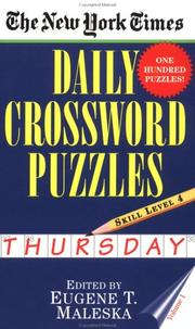 Cover of: The New York Times Daily Crossword Puzzles (Thursday), Volume I (New York Times Daily Crossword Puzzles (Thursday))