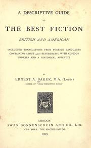 Cover of: A descriptive guide to the best fiction, British and American