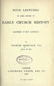 Cover of: Four lectures on some epochs of early Church history