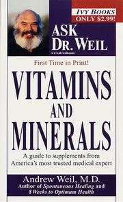 Cover of: Vitamins and minerals | Andrew Weil