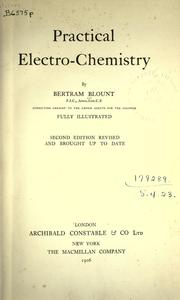 Cover of: Practical electro-chemistry