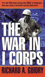 Cover of: War in I Corps