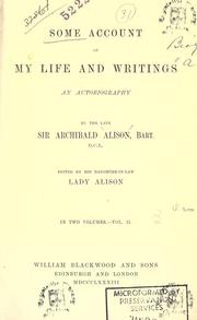 Cover of: Some account of my life and writings