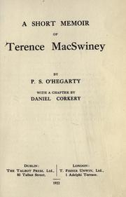 Cover of: A short memoir of Terence MacSwiney