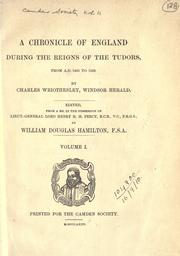 Cover of: [Publications] | Camden Society (Great Britain).