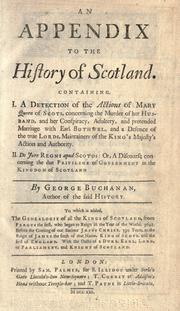 Cover of: An appendix to the History of Scotland