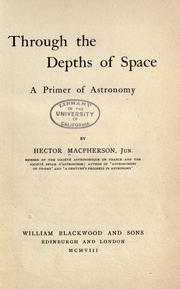 Cover of: Through the depths of space