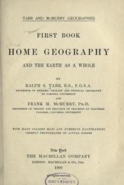 Cover of: Home geography, and the earth as a whole