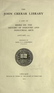Cover of: A list of books on the history of industry and industrial arts