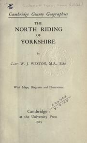 Cover of: The North Riding of Yorkshire