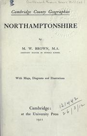 Cover of: Northamptonshire