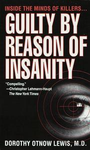 Cover of: Guilty by Reason of Insanity