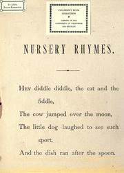 Cover of: Nursery rhymes by