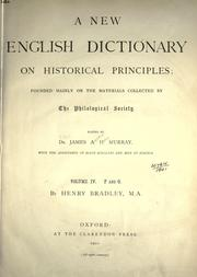 Cover of: A new English dictionary on historical principles (vol 4)