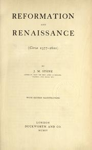 Cover of: Reformation and renaissance (circa 1377-1610)