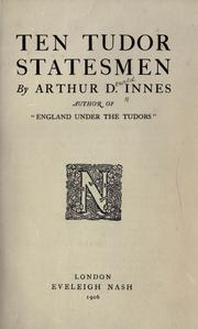 Cover of: Ten Tudor statesmen
