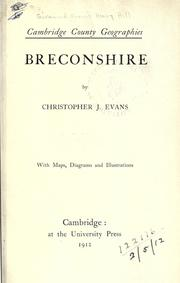 Cover of: Breconshire