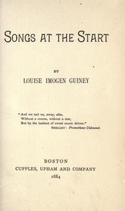 Cover of: Songs at the start