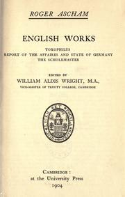 English works by Ascham, Roger
