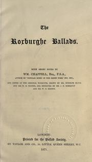 Cover of: The Roxburghe ballads |
