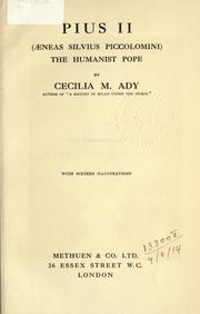 Cover of: Pius II (Aeneas Silvius Piccolomini)