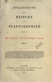 Cover of: Collections for a history of Staffordshire. 1911 by Staffordshire Record Society