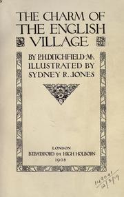 Cover of: The charm of the English village