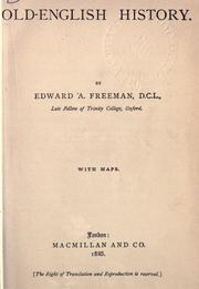 Cover of: Old-English history