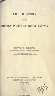 Cover of: The history of the foreign policy of Great Britain