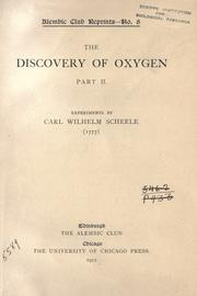 Cover of: The discovery of oxygen