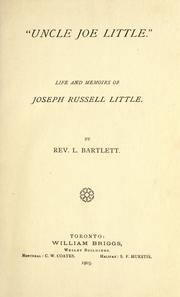 "Cover of: ""Uncle Joe Little"""
