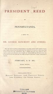 Cover of: President Reed of Pennsylvania